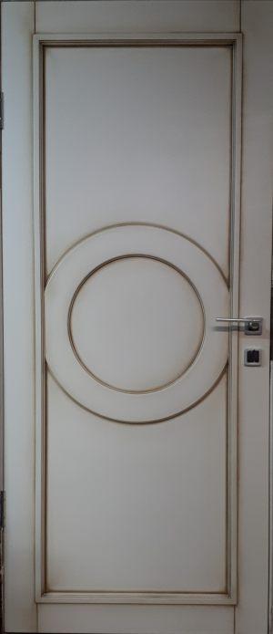 Межкомнатная дверь в профиле массив (эмаль с патиной) Подольск