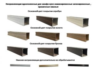 Направляющие однопосные для шкафа купе ламинированные, шпонированные, крашенные эмалью Подольск