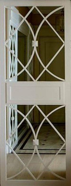 Вставка с фигурной филенкой на зеркале эмаль Подольск