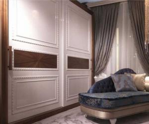 Шкаф купе с декоративным молдингом по периметру Подольск