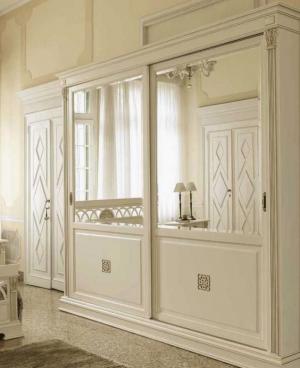 Шкаф купе с филенкой и декоративной накладкой эмаль Подольск