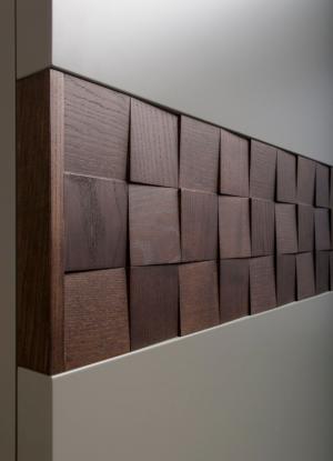 Вставка в двери с накладными квадратами шпон Подольск